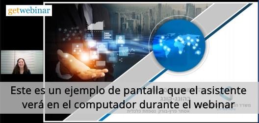 Mostrando la tecnología de un negocio en un Webinar